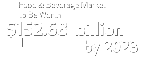 Food & Beverage Market to Be Worth $152.68 Billion By 2023
